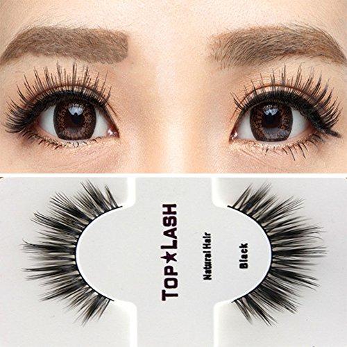 Yamalans Black Natural Long Thick Eye Lashes False Eyelashes Top Lashes Extension Makeup