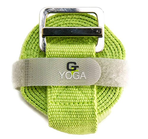 ion-less Easy-Feed Buckle, Super Soft Cotton/Polyester Blend Webbing, Free eGuide. (Green, 8 Feet) (Soft Feed)