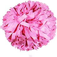"Danzcue 1 Pair 6"" Plastic Cheerleading Pom Poms with Dowel H"