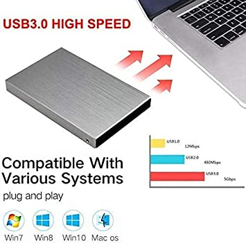 USB 3.0 para PC port/átil y Mac azul 1 tb Disco duro externo delgado 1TB//2TB HDD port/átil