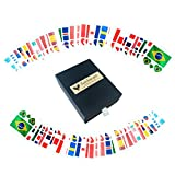 64 Tattoos: Temporary 32 Countries Flag Tattoo Face Body Sticker for 2018 World Cup FIFA Soccer Fans Game