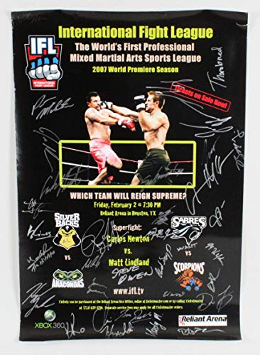 IFL 8 Matt Lindland vs. Carlos Newton Multi Signed Poster Autographed UFC Event Poster