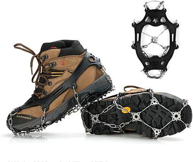 TX Antideslizante Patas de Hielo Zapatos de Acero Inoxidable ...