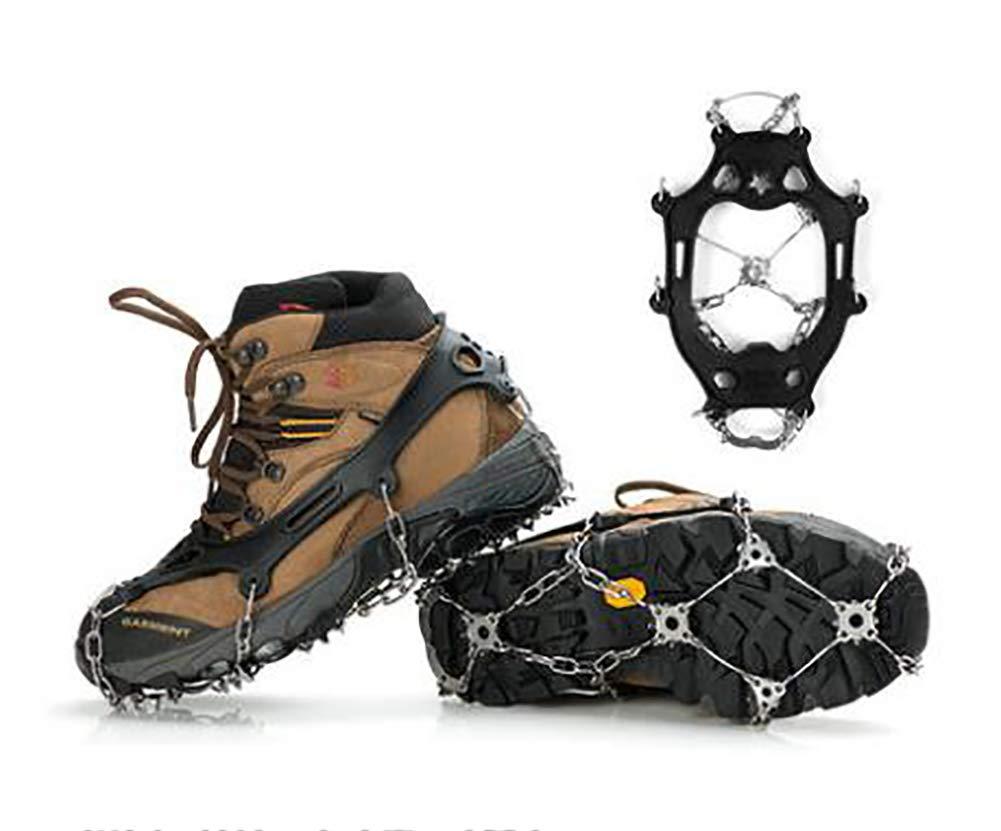 TX  Rutschfeste Eiskrallenschuhe aus Edelstahl-Steigeisen ultraleichte Outdoor-Kletterausrüstung für Schneeklettern 21 Tooth