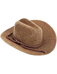 Cowboy Hat - Brown - Felt - Rope Detail - 3 inches