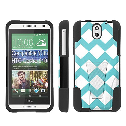 [ArmorXtreme] Case for HTC Desire 610 [Black/Black] [Hybrid Armor KickStand Dual Layer Protection Case] - [Teal - Desire Htc Cases Teal 610 For