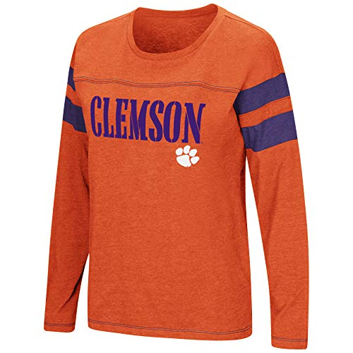 Colosseum Women's NCAA-Game of My Life-Dolman Long Sleeve Tee-Clemson Tigers-Orange-Small