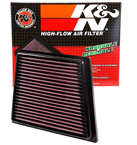 K&N engine air filter, washable and reusable:...