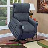 1100 Series Medium 2 Position Lift Chair Moveable Infrared Heat: No, Upholstery: Suede Crypton - Blueberry