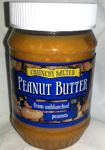 Trader Joe's Crunchy Salted Peanut Butter From Unblanched Peanuts (Peanut Butter With Flax And Chia Seeds)