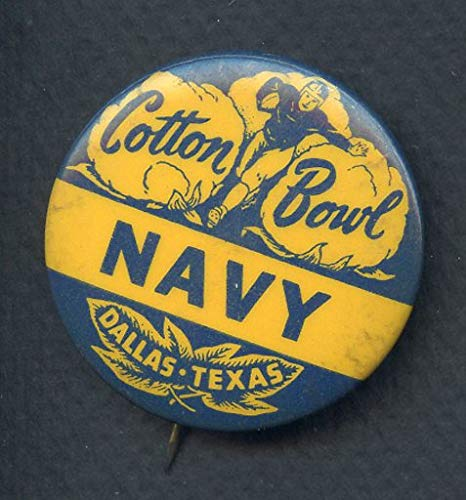 - Vintage Cotton Bowl Navy Midshipmen Booster Button 365779 Kit Young Cards