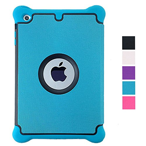 Ipad Air 2 Case, Afranker IPad 6 Prime Series Armor Shield Cover Flip Stand Case with Retina Display Lightweight Leather Silicone Dual Layer Protection Shockproof Magnetic Smart Cover Case Support Sleep and Awake Function Blue