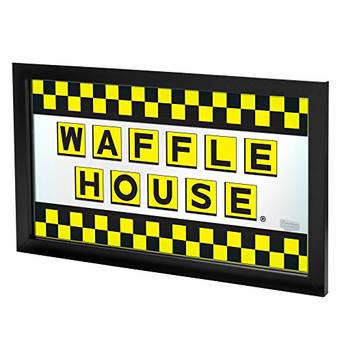 Waffle House Checkered Framed Logo Mirror V1