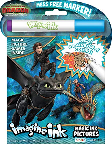 Bendon 13977 How to Train Your Dragon 3 Imagine Ink Magic Ink - Free Pictures Train