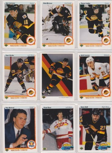 - Vancover Canucks 1990-91 Upper Deck Team Set w/ High Numbers (23 Cards) (Premier Upper Deck Hockey Issue) (Pavel Bure Rookie)