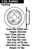 Centric 125.34066 Rear Brake Rotor