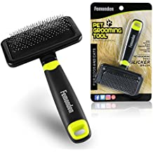 Femonden Pet Grooming Brush - Dog Cat Slicker Brush for Small, Medium & Large Dogs and Cats, with Short to Long Hair (Green)