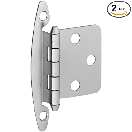 National Hardware S826 339 Bb8196 Standard Non Spring Cabinet Hinge In Nickel 2 Piece