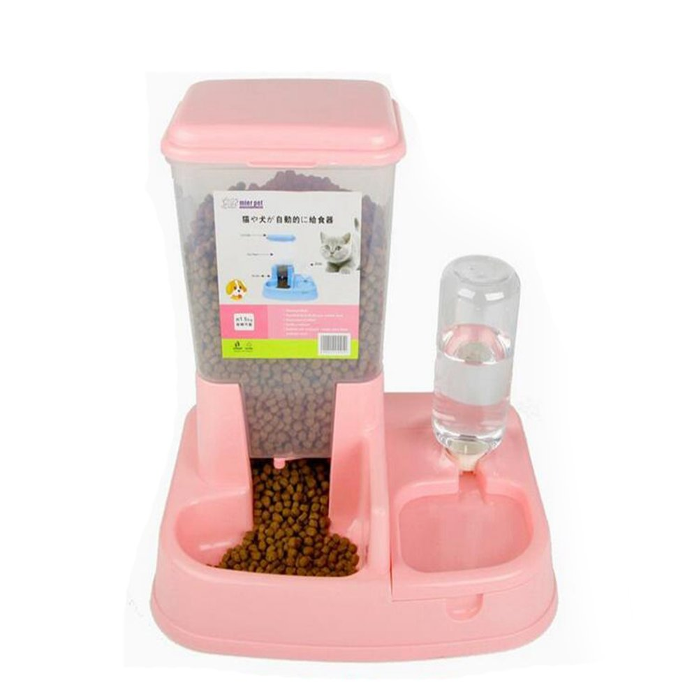 WW Automatic Gravity Feeder Pet Waterer Easy To Add Dog Bowl Cat Pot Combination Bowl Pet Water Station by CW&T (Image #7)