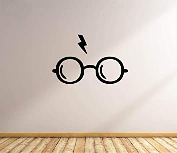 pegatinas de pared baratas Harry Potter Gafas Tatuajes de Pared de ...
