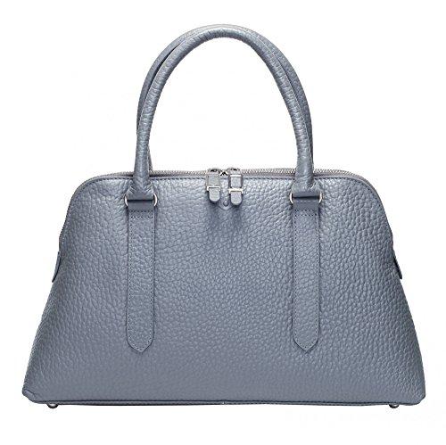 VOi Damen Handtasche 21861 Kurzgrifftasche aus Leder Henkeltasche Hirsch elegante Damentasche in Stahl