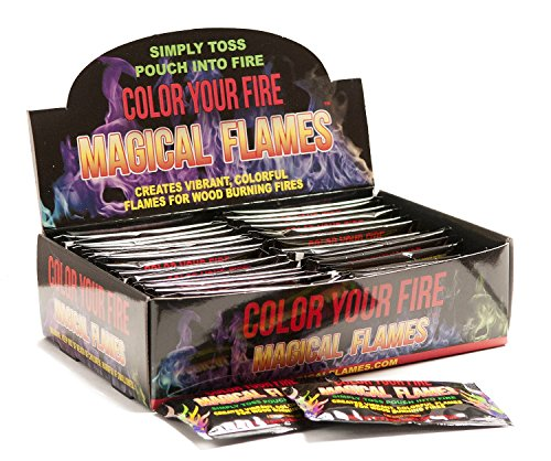 Magical Flames Vibrant & Colorful Flames for Wood Burning Fires (50 ()