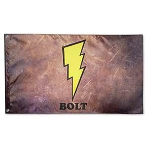 Deporte jardín es Me Bolt Lightning bandera Sing capa Retangular bandera 3'x5'