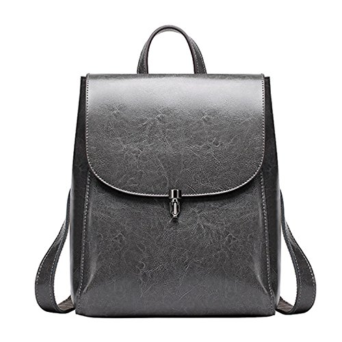 Women Casual Sports Backpack(Gray) - 9