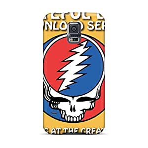 High Quality Phone Case For Samsung Galaxy S5 With Unique Design Colorful Grateful Dead Image DrawsBriscoe