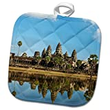 3dRose Danita Delimont - Temples - Angkor Wat temple complex Mirror image reflection, Siem Reap, Cambodia - 8x8 Potholder (phl_257327_1)
