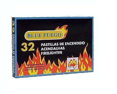 Caja de 32 pastillas de encendido fuego para chimeneas, estufas, barbacoas: Amazon.es: Hogar