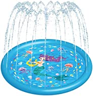 HITOP Sprinklers for Kids, Splash Pad for Toddlers Pool Water Toys Gifts for Boys Girls Mat