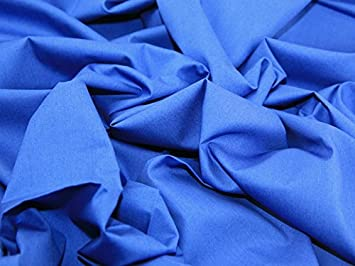 1 metre of cotton poplin royal blue gingham