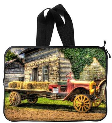 Mejor elegante vieja granja tractor antiguo mango de 13 pulgadas portátil/ordenador portátil manga bolsa