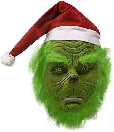 Nuoka Máscara de Navidad Deluxe Disfraz Cosplay Grinch máscara ...