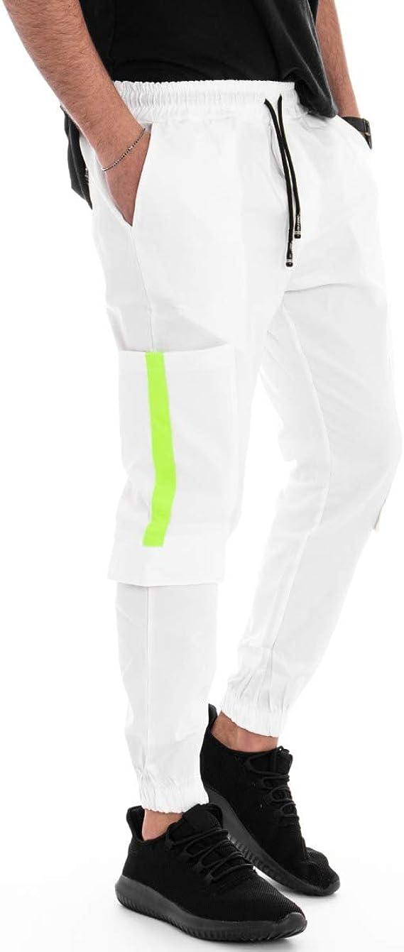 Giosal - Pantalón de Hombre elástico, chándal de Caballo, bajo ...