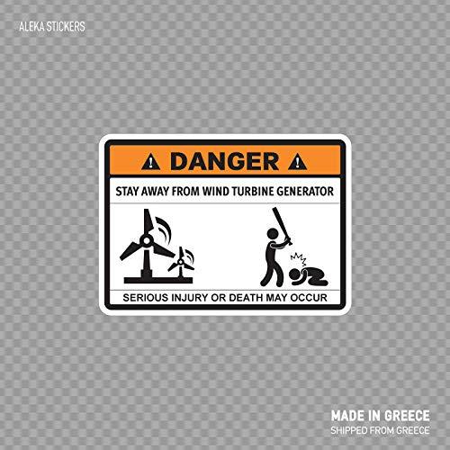 Boyce22Par Stay Away from Wind Turbine Generator Funny Sign 567 Funny Sticker Decal 5x4 inch