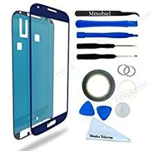 SAMSUNG GALAXY S4 i9500 i9505 I337 M919 BLUE DISPLAY TOUCHSCREEN REPLACEMENT KIT 12 PIECES INCLUDING 1 REPLACEMENT FRONT GLASS FOR SAMSUNG GALAXY S4 / 1 PAIR OF TWEEZERS / 1 ROLL OF 2MM ADHESIVE TAPE / 1 TOOL KIT / 1 MICROFIBER CLEANING CLOTH / WIRE