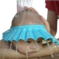 SPHTOEO Safe Shampoo Shower Protección de baño Gorra suave para niños pequeños, bebés, niños y niños para mantener el agua fuera de sus ojos y cara (azul)