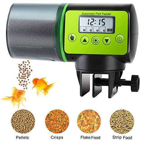 (Torlam Auto Fish Feeder, Moisture-Proof Electric Auto Fish Feeder,Aquarium Tank Timer Feeder Vacation &Weekend 2 Fish Food Dispenser)
