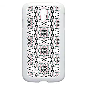 Floral Outlines Pattern - Case for the Samsung Galaxy S4 i9500- Hard White Plastic Snap On Case wangjiang maoyi