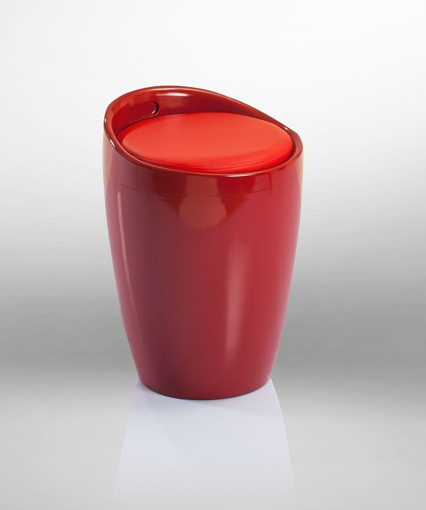 Badhocker mit stauraum  Badhocker Sitzhocker Hocker Stuhl mit Stauraum Rot DH0608 - Duhome ...