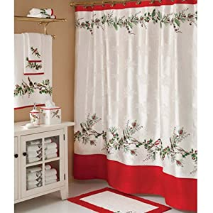 Amazon Com Lenox Winter Song Christmas Shower Curtain