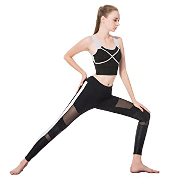 Leggings Pants Workout Running Damen Fitness Yoga Gym Set Sportbekleidung Bra