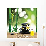 Wallmonkeys Vector Beautiful Spa Composition with Zen Stones Wall Decal Peel and Stick Graphic WM83942 (24 in H x 24 in W)