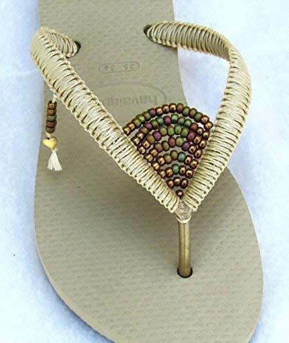 271635f94acfa Amazon.com: Women's Flip Flops, Boho Hippie Vegan Flat Beaded ...