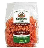 Castagno Organic red lentils fusilli 250g