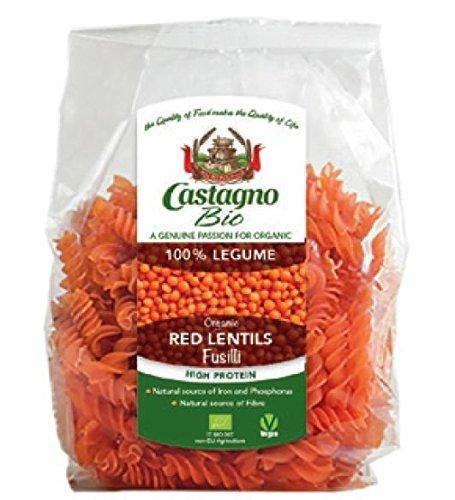 Castagno Organic red lentils fusilli 250g by Castagno