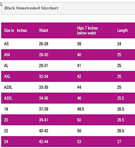 Kosher Casual Women's Modest Straight Midi Length Denim Skirt Stretch Waistband No Slits Regular and Plus Size Plus 20 Stonewash Black with Black Stitching by Kosher Casual (Image #1)