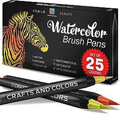 Artist Watercolor Brush Pens Set of 26 -...